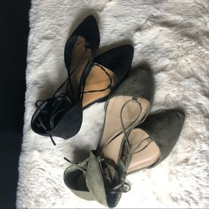 ⚫️Pointed Toe Laced Up Flats 🟢